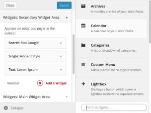 WordPress 3.9将集成Widget Customizer插件功能