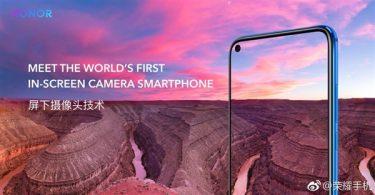 荣耀V20即将到来,胡歌代言,4800万索尼IMX586,屏下摄像头技术