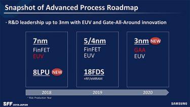 三星7nm EUV工艺下半年量产 2021年推3nm GAA工艺